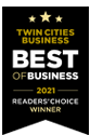 Twin Cities Best of Business 2021 Readers Choice Award