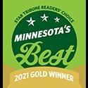 Award seal for Star Tribune Minnesota's Best Gold Award for Best Home Mortgage